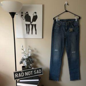 NWT Eddie Bauer Slim Straight Boyfriend Jeans